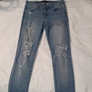 Flying Monkey Destroyed Mid Rise Skinny Jeans 25